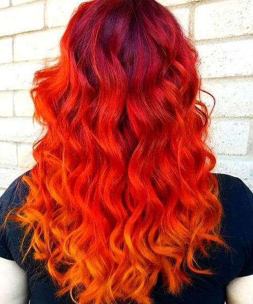 Red Ombre Hair Trend Hm Hairmeida